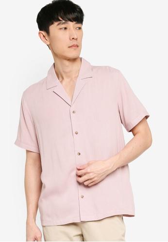 ZALORA BASICS pink Relaxed Shirt E6E40AAF130E45GS_1