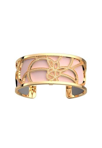 Les Georgettes by Altesse multi Les Georgettes Pétales Gold 25mm Bracelet Light Pink & Light Grey leather 52AC2AC8D6F223GS_1