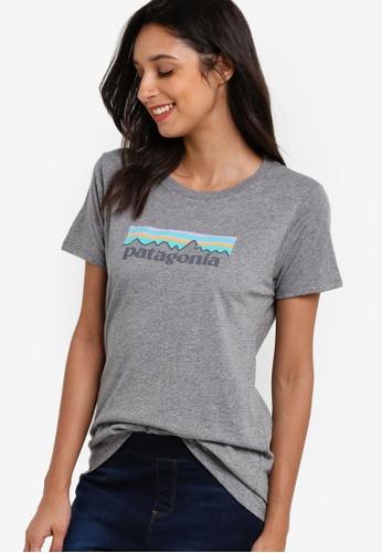 Patagonia grey Pastel P-6 Logo Crew Top PA549AA73XBIMY_1