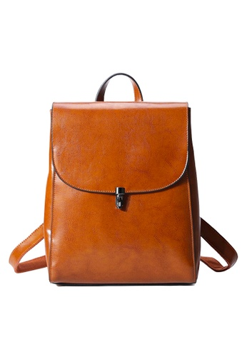 Twenty Eight Shoes brown VANSA Top Layer Burnished Leather Backpacks VBW-Bp260 59A32ACB66016BGS_1