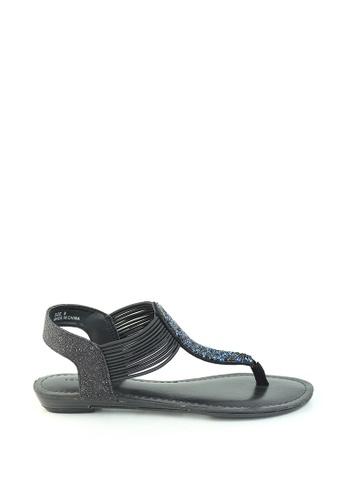 London Rag black T-Strap Slingback Sandals EEBDBSH11456F9GS_1