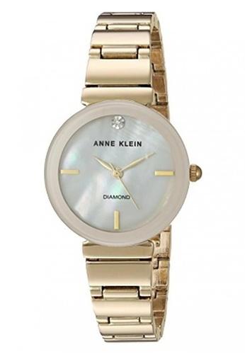 Anne Klein gold Anne Klein Women's AK-2434PMGBDiamond-Accented Gold-Tone Bracelet Watch AN844AC0S7GEMY_1