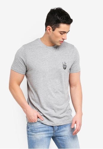 Brave Soul grey Basilisk T-Shirt with Chest Embroidery 305D6AA3A68842GS_1
