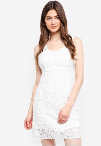 YOCO white Lace Sleeveless Dress D9C65AA1110546GS_1