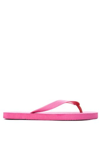 BENCH pink Basic Rubber Slippers BE550SH56LVNPH_1