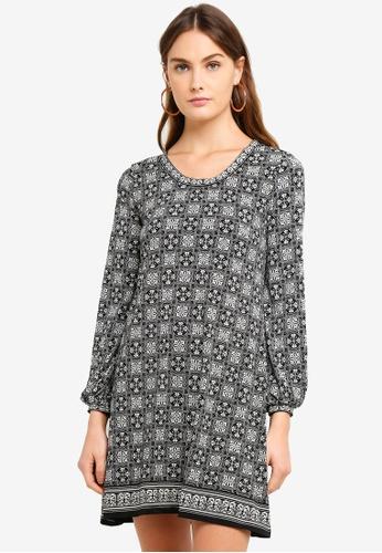 Max Studio multi Knit Long Sleeve Dress D1D81AAB65A44CGS_1