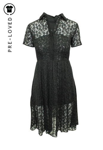 Reformation black Pre-Loved reformation Elegant Black Lace Dress with Collar C5792AA6A10D00GS_1