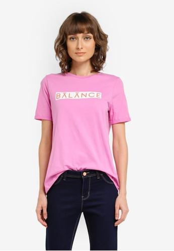 Vero Moda purple Balance T-shirt VE975AA0SKQEMY_1