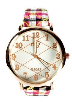 Olj Checkered Analog Watch