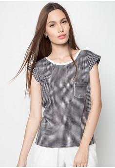 Checkered Combi Blouse
