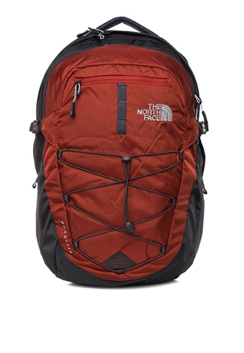 The North Face grey and red Borealis Backpack TH803AC0J2UZPH_1