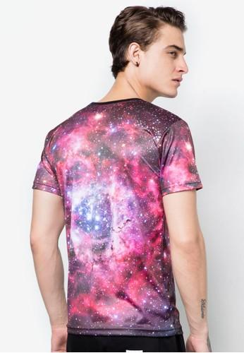 宇宙銀河圖圓領TEE, 服飾, esprit分店印圖T恤