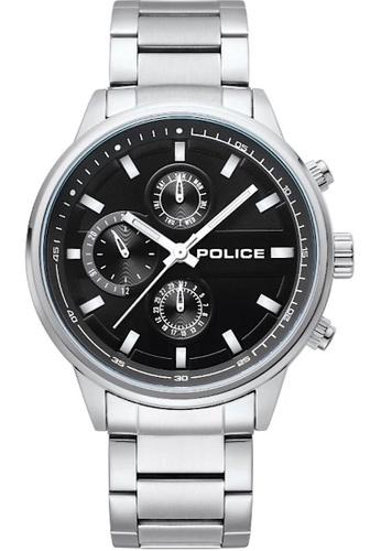 Police silver Police gent's super metal watch  - PL15464JYS/02M-A B3066ACF78BDF6GS_1