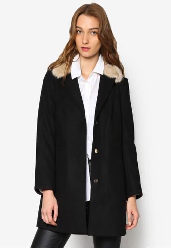 仿毛領風衣外套, 服飾, 夾克 &ampesprit專櫃; 大衣