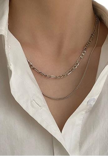 Sunnydaysweety silver 2 in 1 Multi Necklace CA030220SV A0226ACBE096F7GS_1