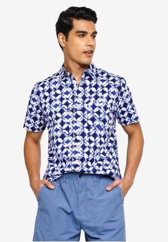 GAP multi and navy V-Su Poplin Shirt 7C735AA9BCF862GS_1