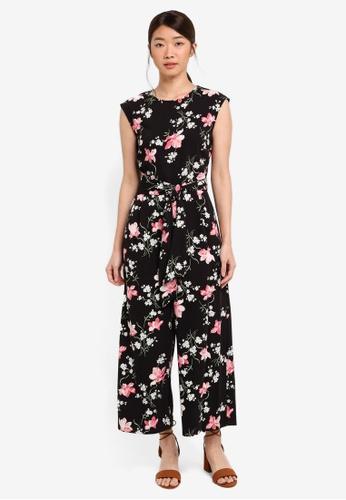 WAREHOUSE black Constantine Floral Jumpsuit 10412AAEB04A3BGS_1