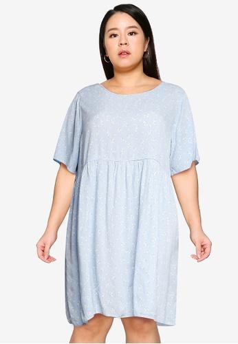 Cotton On blue Curve Good Times Babydoll Mini Dress 1C0E9AAD39B26CGS_1