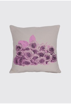 Roses in Full Bloom Print B Throw Pillow Case