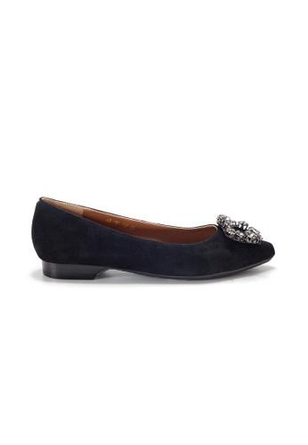 Shu Talk 黑色 LeccaLecca 高貴閃石低跟平底鞋 0A458SHA01D54EGS_1