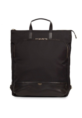 "knomo black Harewood 15"" Slim Laptop Tote Backpack (Black) B0FA7AC8CCC778GS_1"