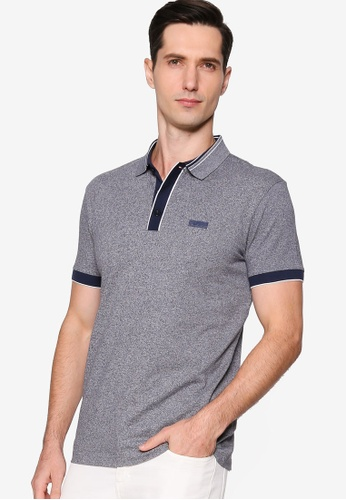 BOSS navy Paddy Polo Shirt 73514AA055FE08GS_1