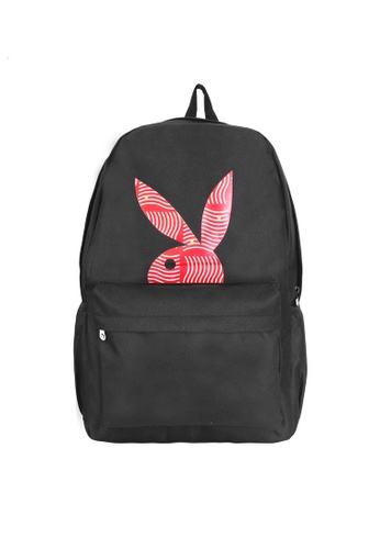 Playboy black Playboy Backpack 04929AC4DED69AGS_1