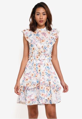 Forever New multi Mollie V-Yoke Print Day Dress 69CE3AAE443E56GS_1