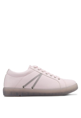 Something Borrowed pink Lace Up Sneakers 7BF03SH6420EFAGS_1