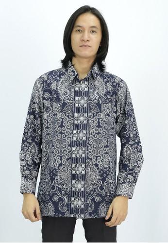 House of Kain blue Kemeja Batik Katun Biru 6B9CDAAB0603FBGS_1