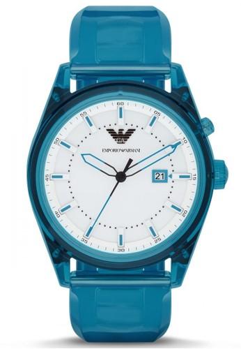 Emporio Armani blue Emporio Armani Sport - White Dial 46 mm - Polyurethane  - Analog - 46eeeb84c2