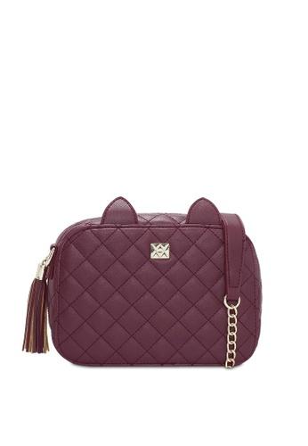 VINCCI red Shoulder Bag E99F6AC1DB371EGS_1