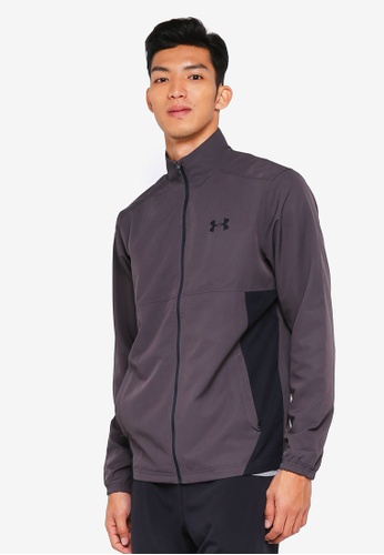 Under Armour grey Sportstyle Woven FZ Jacket 3A662AAAA31DC0GS_1