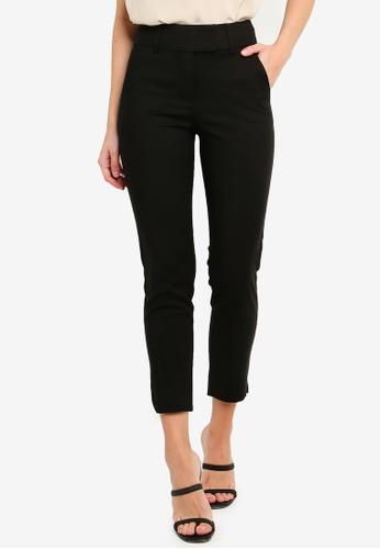 FORCAST black Josie Cropped Notch Pants 9EFEAAAF9F5AEBGS_1