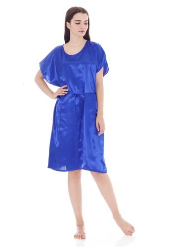 Cynthia blue Charming Sleepdress Darkblue Batwing Saten A2B03AAAE7BC6BGS_1