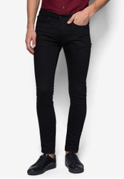 Topman 黑色 Black Stretch Skinny Jeans TO250AA79ENGSG_1