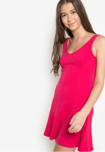 Springfield pink Scoopback Skater Dress SP071AA65TYWPH_1