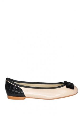 Covet beige French Sole Henrietta Ballet Flats CO331SH0JIVEPH_1