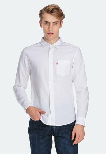 Levi's white Levi's Slim Fit Sunset One Pocket Shirt Men 86619-0008 C4484AAB48DCC6GS_1