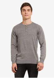 Indicode Jeans grey Taylor Grandad Sweatshirt IN815AA0ROLTMY_1