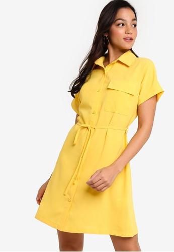 Something Borrowed yellow Utility Pocket Shirt Dress A2E27AA5C46529GS_1