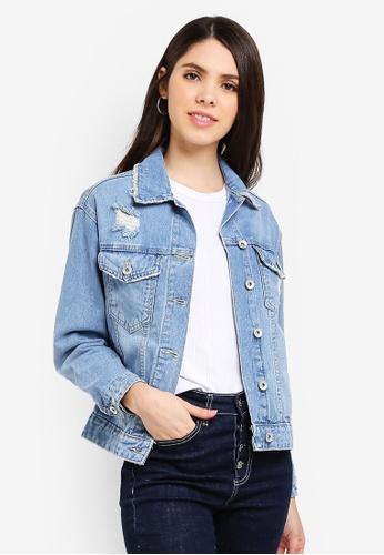 Cotton On blue New Boyfriend Denim Jacket 899EEAADF3498AGS_1