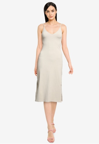 Abercrombie & Fitch grey Seamless Knit Midi Dress 9A769AAE086B2CGS_1