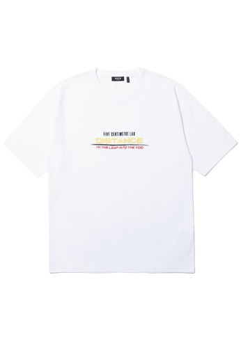 Fivecm white Embroidered slogan tee 17A6EAA8EBAD23GS_1