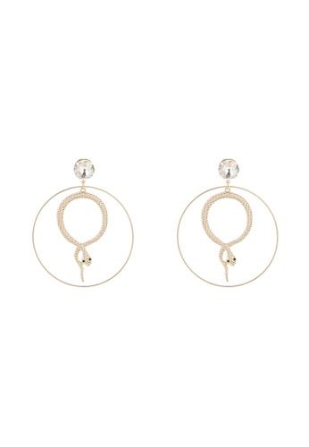 ALDO gold Cassini Pierced Earring F2D56AC0258502GS_1