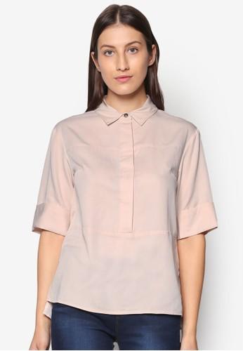 寬zalora 衣服尺寸版襯衫上衣, 服飾, 上衣