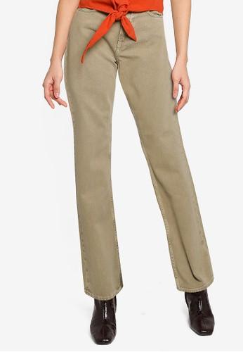 Mango green Wide Leg High Waist Jeans 03A77AA1308FCAGS_1