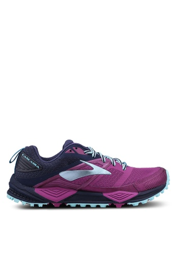 Brooks purple Cascadia 12 Shoes A42DBSH7B09C53GS_1