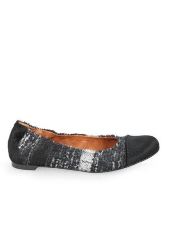 Shu Talk 黑色 RAS 布料舒適平底芭蕾舞鞋 SH617SH2VZG6HK_1