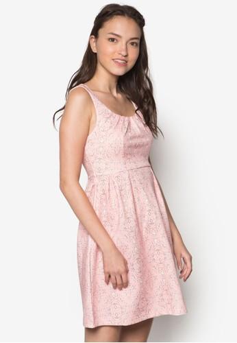 esprit tote bag印花褶飾無袖連身裙, 服飾, 服飾